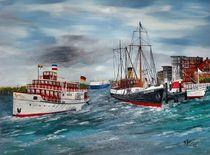 Nostalgie im Kieler Hafen von Bärbel Knees