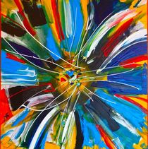 """Dutch Spin"" - colorful abstract painting by rvhart"