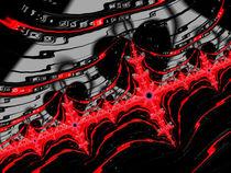 Fraktal in rot und schwarz von Matthias Hauser
