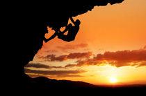 silhouette climber by Alex Koch