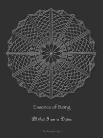 Essence of Being Mandala - white design w/msg von themandalalady