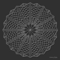 Essence of Being Mandala - white design von themandalalady
