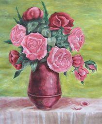 Roses in vase von Vlatka Kelc
