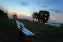 bench evening turned by Alex Freyland