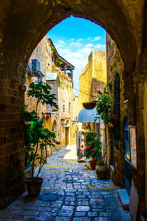 The old narrow small streets  by slavamalai