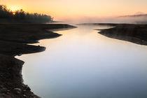 Plastiras Lake sunrise v2 von Ilias Katsouras