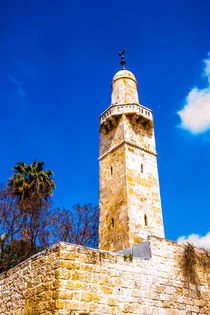 Minaret in the old city of Jerusalem by slavamalai