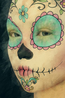Day of The Dead - Sugar Skull Portrait by Liam Liberty
