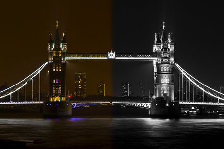 Split-tone-tower-bridge