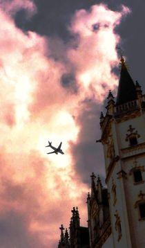 Airplane and Castle von Juergen Seidt