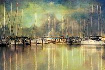 Boats in Harbour von Annie Snel - van der Klok