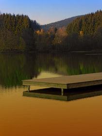 Romantischer Herbstabend am Badesee | Landschaftsfotografie von Patrick Jobst