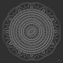 Tut Mandala - white design by themandalalady