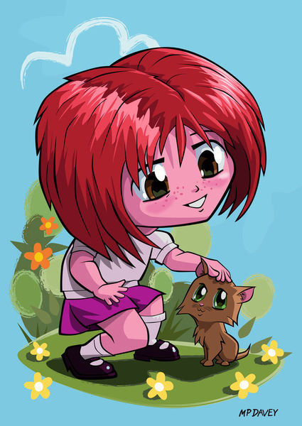 A3-little-manga-girl-and-cat