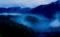 Nebel, der aus Tälern steigt. von Noémi Giteau