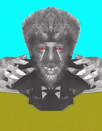Lon Chaney Jr, alias in The Wolf Man by Art Cinema Gallery