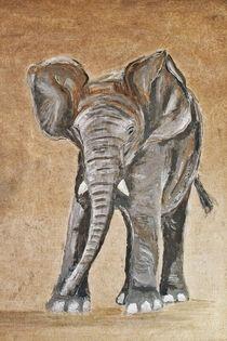 Elefantenjunges von Annett Tropschug