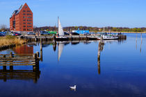 Morgens am Stadthafen von Sabine Radtke