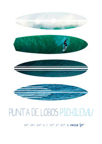 My Surfspots poster-3-Punta de Lobos-Chile von chungkong