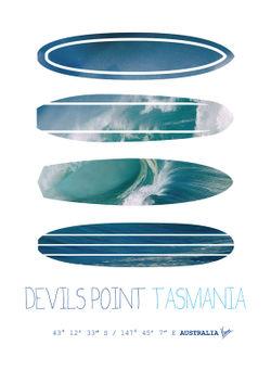 My-surfspots-poster-5-devils-point-tasmania