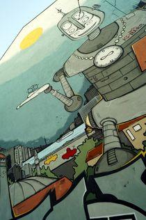 berlin mural 1 - Wandbild Berlin 1  von mateart