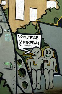 berlin mural 2 - Wandbild Berlin 2 von mateart