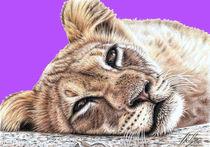 Lionchild Pink PopArt von Nicole Zeug