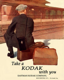 Waiting For The Train. Circa 1915. von chris kusik