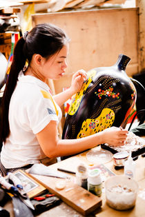 Vietnamese Hand Craft Artist II by Tom Hanslien