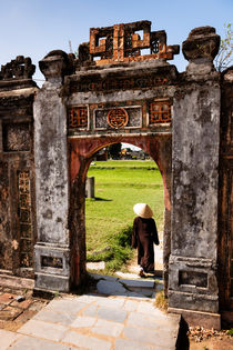 Old gate, Hue Citadel. by Tom Hanslien