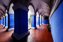 Blue Pillars - Monasterio de Santa Catalina de Siena. by Tom Hanslien