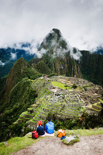 Admiring Machu Picchu. by Tom Hanslien