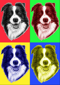 Border Collie PopArt by Nicole Zeug