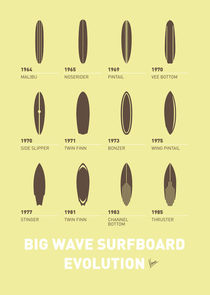 My Evolution Surfboards minimal poster von chungkong