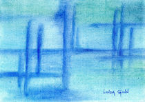 Blue abstract by Linda Ginn