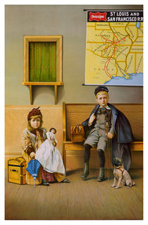 Waiting Room For The Frisco Line. Circa 1899. by chris kusik