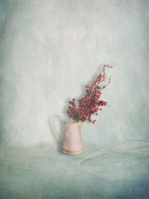 Jug With Red Berry Branch by artskratches
