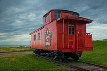 Railroad Train Red Caboose on Prince Edward Island by Randall Nyhof