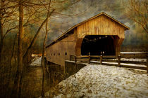 Covered Bridge in Winter von Randall Nyhof