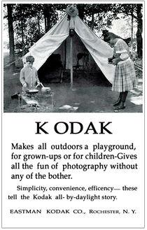 Children  Camping. Circa 1913. by chris kusik
