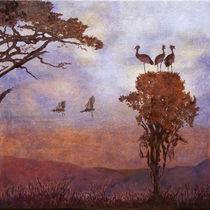 Africa Crane Birds von Sandy van Zijl