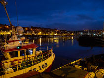 Whitby Upper Harbour at Night by Louise Heusinkveld