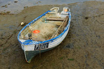 Fishing Dinghy at Low Tide by Louise Heusinkveld