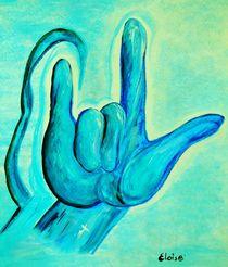 ASL I Love You Blue by eloiseart