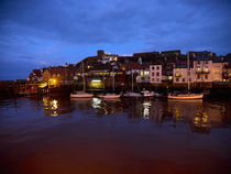 Whitby Lower Harbour at Night von Louise Heusinkveld