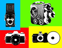 4 different cameras popart by Les Mcluckie