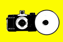 6x6 old camera popart by Les Mcluckie