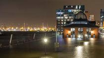Hochwasser am Hamburger Fischmarkt von Steffen Klemz