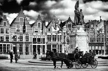 Market Square in Bruges by John Rizzuto