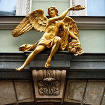Golden Angel in Prague by John Rizzuto